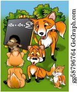 Squirrel - Foxes In School