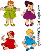 Little-Girls - Vintage Cartoon Little Girls.