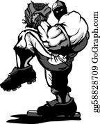 Baseball - Baseball Player Pitcher Cartoon