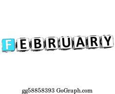 February - 3d February Block Text