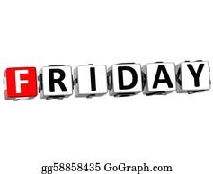 Weekday - 3d Friday Block Text