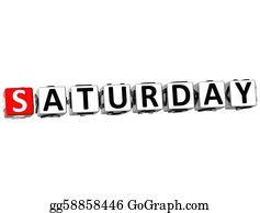 Weekday - 3d Saturday Block Text