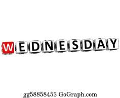Weekday - 3d Wednesday Block Text