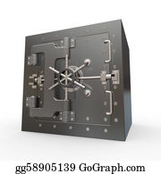 Bank-Vault - Safe In Stainless Steel. Bank Vault