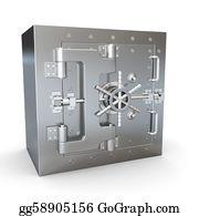 Bank-Vault - Safe In Stainless Steel. Bank Vault.