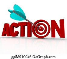 Bullseye - Action Target Bulls-Eye Word Urgent Need To Act Now