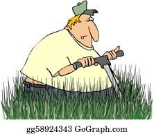 Lawn-Mower - Man Mowing Tall Grass