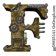 Letter-F - Steampunk Letter F