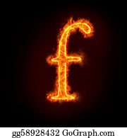 Letter-F - Fire Alphabets, Small Letter F