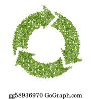 Plant-Life-Cycle - Grass Recycle Symbol