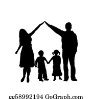 Illustration-With-Happy-Family - Family Silhouette