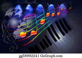 Music-Notes-On-Piano-Keyboard - World Music