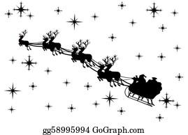 Reindeer-Christmas-Silhouettes - Santa Claus