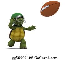 Throwing - Tortoise Throwing An American Football
