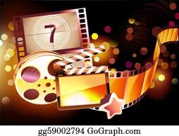 Orange-Border - Abstract Cinema Background