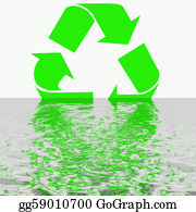 Ecological-Awareness - Artistic Recycling Symbol Reflection