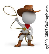 Cowboy-Boots - 3d Small People - Cowboy