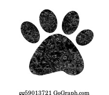 Bear-Paw - Abstract  Paw Print