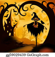 Scarecrow - Halloween Background