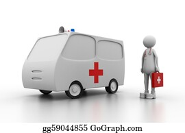 Health-Care - Doctor With Ambulance.