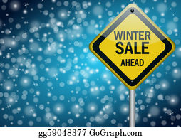 Time-For-Shopping - Winter Sale Background With Snowflakes