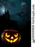 Scary-Pumpkin - Scary Pumpkin On Halloween Nigh