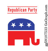 Blue-Elephant - Republican Party Elephant