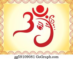 Ganesha - Ganesha Based Om Text Artistic Template