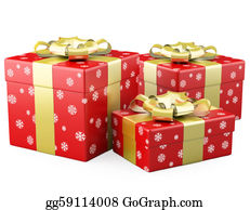 Wrap - Three Red Christmas Gifts