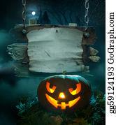 Scary-Pumpkin - Halloween Background Design