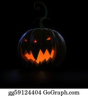 Scary-Pumpkin - Glowing Halloween Pumpkin