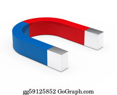 Gravity-Field - 3d Magnet Red Blue