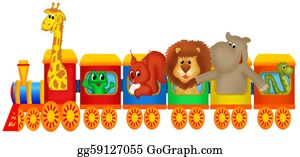 Funny-Toy-Train - Train With Animals