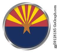 Badge - Button Badge Of Arizona