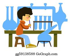 Chemical-Laboratory - Vector Drawing