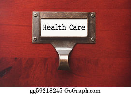 Health-Insurance-Card - Lustrous Wooden Cabinet With Health Care File Label