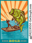 Largemouth-Bass - Fishing Poster Calendar 2012 Largemouth Bass