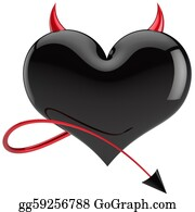 Rudeness - Devil Heart Shape Black Love
