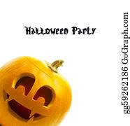 Scary-Pumpkin - Halloween Pumpkin Isolated On White Background