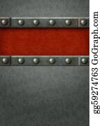 Rudeness - Background - Metal Plates With Rivets