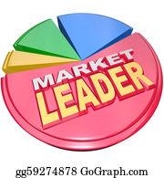 Text-Dividers - Market Leader - Biggest Slice Portion Of Pie Chart Shares