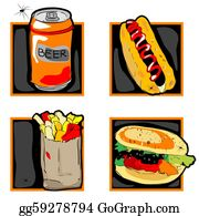Halloween-Dog - Halloween Scary Fast Food Meal Icons