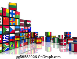 Globe-Flags - Collage From Cubes With Flags