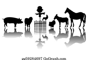Scarecrow - Farm Animals Silhouettes