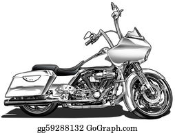 Motorcycle - Custom Bagger Motorcycle