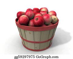 Basket - Basket With Red Apples
