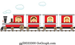 Funny-Toy-Train - Train And Cheerful Catroon Family