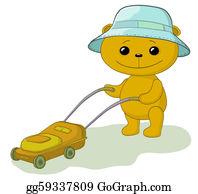 Lawn-Mower - Teddy Bear Lawnmower