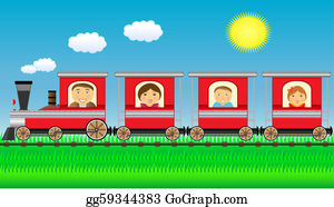 Funny-Toy-Train - Happy Family Moving In Train With G