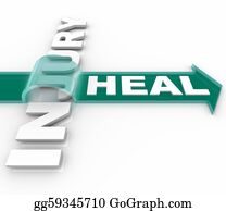 Therapy - Heal After An Injury Arrow Over Word Recuperation